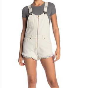 NWT Free People Sunkissed Denim Short Overalls 12
